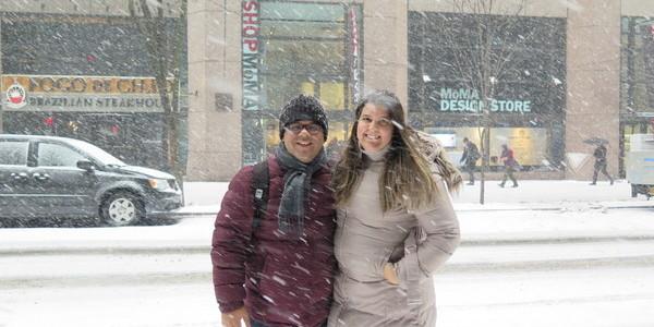 Notícias de Nova York – nós na neve pela primeira vez!